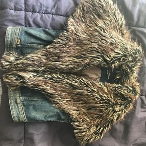 Miss sixty fax fur vest